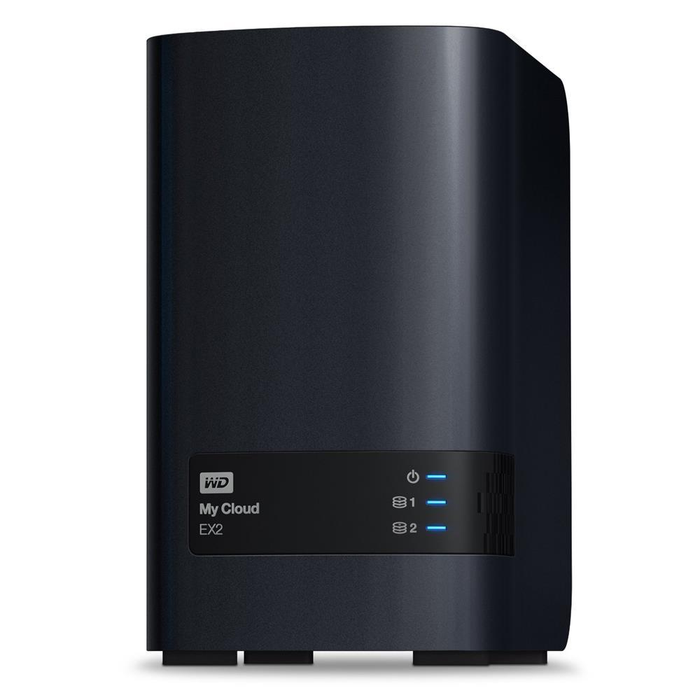 WESTERN DIGITAL MY CLOUD EX4100 NAS, 4BAY 24TB(4 x 6TB), DC-1.6GHz, GbE(2), USB(3), ISCSI, TWR, 3YR